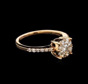 0.54ctw Diamond Ring - 14kt Rose Gold