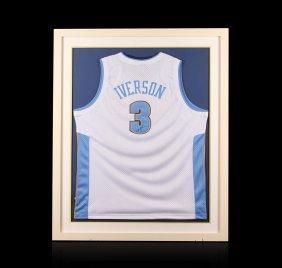 Allen Iverson Framed Autographed Jersey