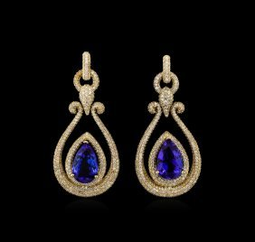 14kt Yellow Gold 17.82ctw Tanzanite And Diamond