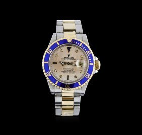 Rolex 18kt Two-tone Submariner Men's Watch