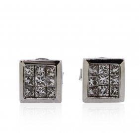 14kt White Gold 0.69ctw Diamond Earrings