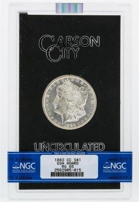 1883-cc Ngc Ms65 Morgan Silver Dollar