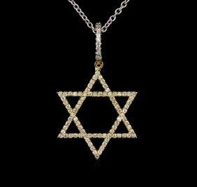 0.58ctw Diamond Necklace - 14kt White Gold