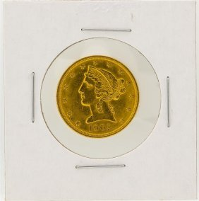1902 $5 Liberty Head Half Eagle Gold Coin