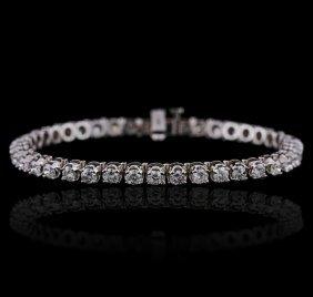 14kt White Gold 4.47ctw Diamond Bracelet