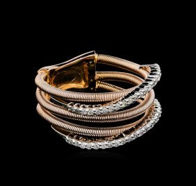 0.28ctw Diamond Ring - 14kt Two-tone Gold