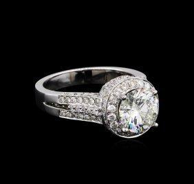 14kt White Gold 3.87ctw Round Brilliant Cut Diamond