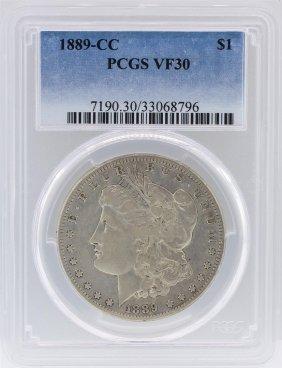 1889-cc Pcgs Vf30 Morgan Silver Dollar