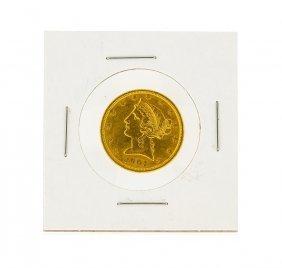 1901-s $5 Cu Liberty Head Half Eagle Gold Coin