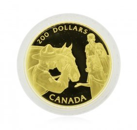 1993 Canada $200 Mounted Police Gold Coin