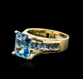 14kt Yellow Gold 4.54ctw Topaz Ring