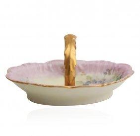 Limoges Small Porcelain Basket