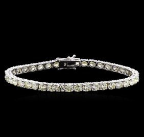 13.00ctw Diamond Tennis Bracelet - 18kt White Gold