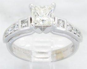 1.17ctw Diamond Ring - 14kt White Gold