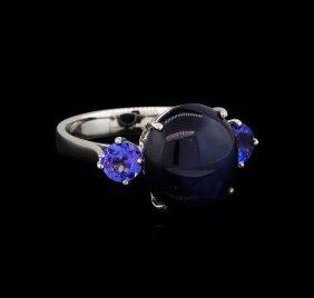 11.71ctw Multi Gemstone Ring - 14kt White Gold