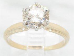 1.28ct Brown Diamond Ring - 14kt Yellow Gold