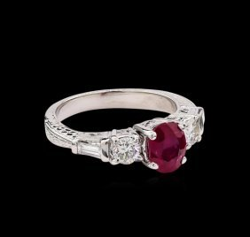 1.40ct Ruby And Diamond Ring - Platinum