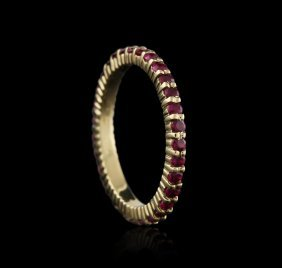 14kt Yellow Gold 1.00ctw Ruby Ring