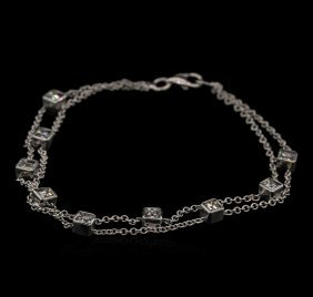 1.00ctw Diamond Bracelet - 18kt White Gold
