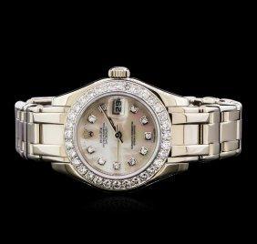 Rolex Pearl Master 18kt White Gold 1.44ctw Diamond