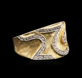 14kt Two-tone Gold 0.86ctw Diamond Ring