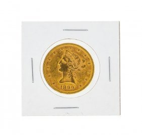 1899 $10 Bu Liberty Head Eagle Gold Coin