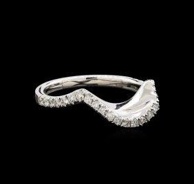 0.33ctw Diamond Wedding Band - 14kt White Gold