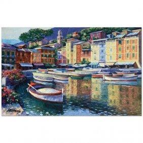 Portofino Harbor By Behrens (1933-2014)