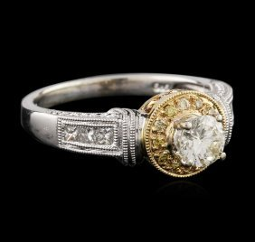 14kt Two-tone Gold 0.72ctw Diamond Ring