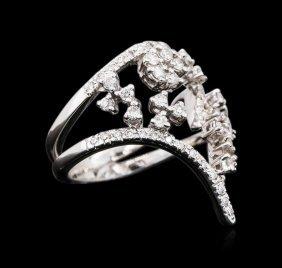 18kt White Gold 1.08ctw Diamond Ring