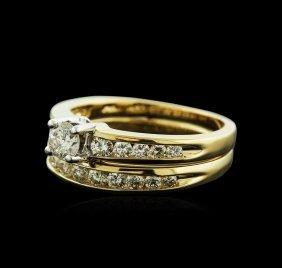 14kt Yellow Gold 0.70ctw Diamond Wedding Ring Set
