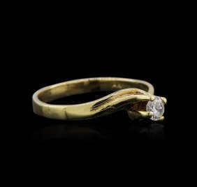 14kt Yellow Gold 0.25ct Diamond Solitaire Ring