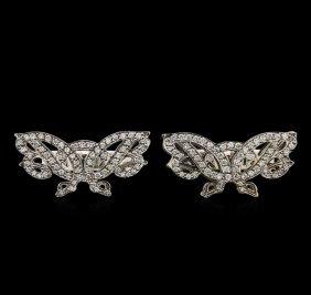 1.00ctw Diamond Cufflinks - 14kt White Gold