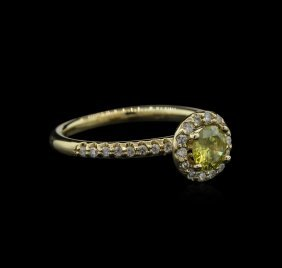 0.78ctw Yellow Diamond Ring - 14kt Yellow Gold