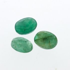 3.28cts. Oval Cut Natural Emerald Parcel
