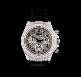 Rolex 18kt White Gold 4.00ctw Diamond Daytona Men's