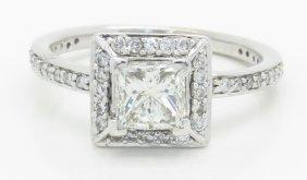 Gia Certified 1.39ctw Diamond Ring - 14k White Gold