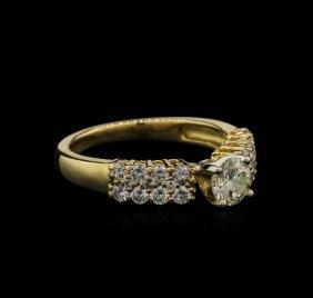 0.98ctw Diamond Ring - 18kt Yellow Gold