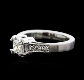 14kt White Gold 0.49ctw Diamond Ring