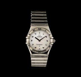 Omega Stainless Steel Constellation Ladies Watch