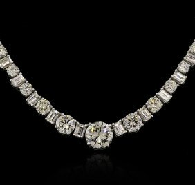 32.76ctw Diamond Necklace - 18KT White Gold