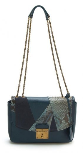 Marc Jacobs Mini Polly Blue Quilted Leather Shoulder