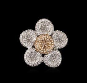 1.71ctw Diamond Pendant - 18kt Two-tone Gold