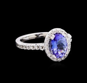 1.98ct Tanzanite And Diamond Ring - 14kt White Gold