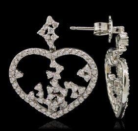 14kt White Gold 1.90ctw Diamond Earrings