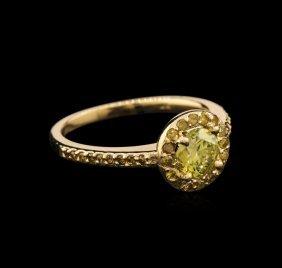 1.03ctw Yellow Diamond Ring - 14kt Yellow Gold