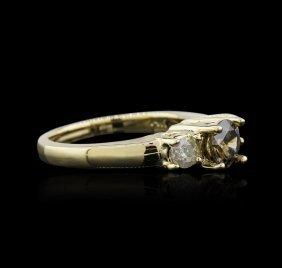 14kt Yellow Gold 0.98ctw Brown Diamond Ring