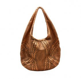 Bottega Veneta Copper Deerskin Cervo Hobo Bag