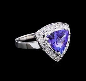 2.52ct Tanzanite And Diamond Ring - 14kt White Gold