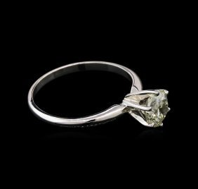 1.01ct Solitaire Diamond Ring - 14kt White Gold